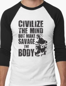 Make Savage The Body (Saiyan Ripped Back) Men's Baseball ¾ T-Shirt