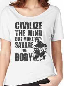 Make Savage The Body (Saiyan Ripped Back) Women's Relaxed Fit T-Shirt