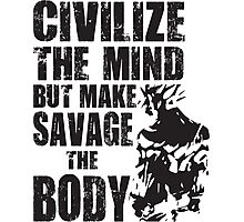 Make Savage The Body (Saiyan Ripped Back) Photographic Print