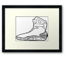 Back to the future shoe Framed Print