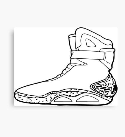 Back to the future shoe Canvas Print