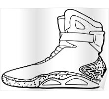 Back to the future shoe Poster