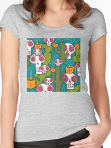 Skulls, Cacti and Atomic Coffee Women's Fitted Scoop T-Shirt