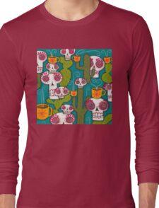 Skulls, Cacti and Atomic Coffee Long Sleeve T-Shirt