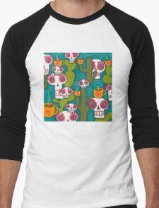 Skulls, Cacti and Atomic Coffee Men's Baseball ¾ T-Shirt