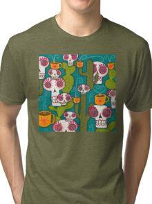Skulls, Cacti and Atomic Coffee Tri-blend T-Shirt