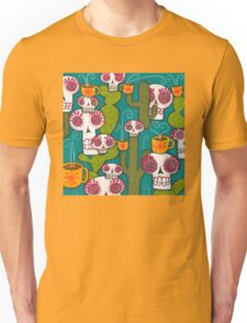 Skulls, Cacti and Atomic Coffee Unisex T-Shirt