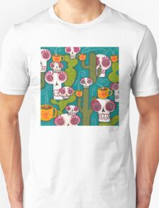 Skulls, Cacti and Atomic Coffee Unisex T-Shirt