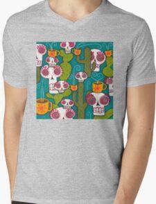 Skulls, Cacti and Atomic Coffee Mens V-Neck T-Shirt