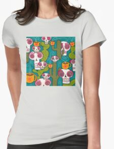 Skulls, Cacti and Atomic Coffee Womens Fitted T-Shirt