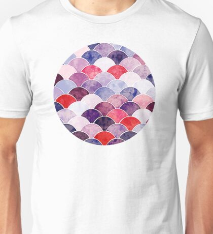 Purple Fish Scale Pattern Unisex T-Shirt