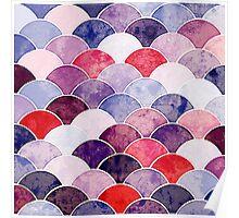 Purple Fish Scale Pattern Poster