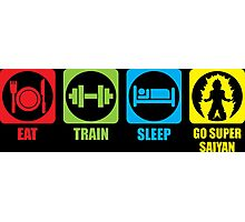 Eat, Train, Sleep, Go Super Saiyan (Horizontal) Photographic Print