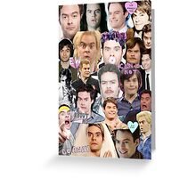 Bill Hader collage Greeting Card