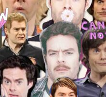 Bill Hader collage Sticker
