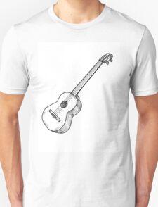 Black hand drow guitar Unisex T-Shirt