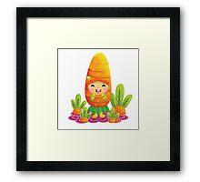 Cute Carrot Framed Print