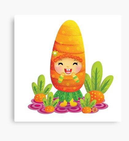 Cute Carrot Canvas Print