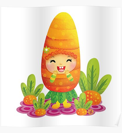 Cute Carrot Poster