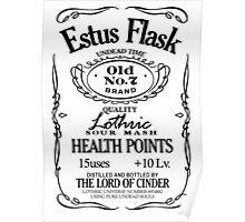 Estus Label - Black Poster