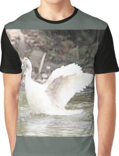 White Female Duck Graphic T-Shirt