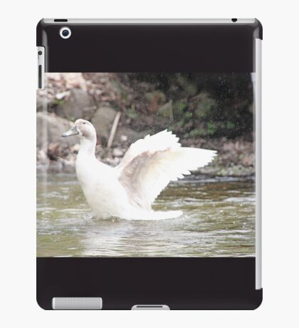 White Female Duck iPad Case/Skin