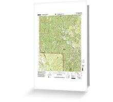 USGS TOPO Map Alabama AL Poplar Springs 304883 2000 24000 Greeting Card