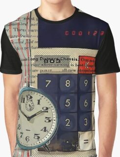 cool geeky nerdy alarm clock retro calculator  Graphic T-Shirt