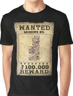 Missing no. Pokémon WANTED Graphic T-Shirt