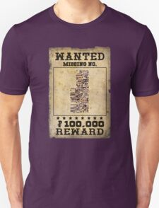 Missing no. Pokémon WANTED Unisex T-Shirt