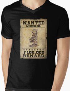 Missing no. Pokémon WANTED Mens V-Neck T-Shirt