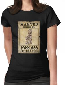 Missing no. Pokémon WANTED Womens Fitted T-Shirt