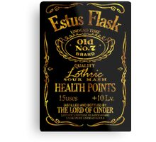 Estus Label - Golden Metal Print