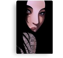 The Black Geisha Canvas Print
