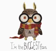 Small owlet - Biggest HP fan Baby Tee