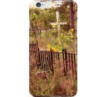 """"""" 'THE CEMETERY', a Series, #10,  Hinds Valley Cemetery """"... prints and products iPhone Case/Skin"""