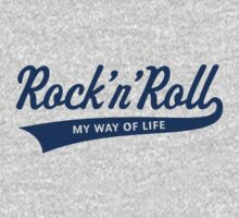 Rock 'n' Roll – My Way Of Life (Blue) One Piece - Long Sleeve