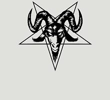 Satanic Goat Head with Pentagram 1.2 (black) Unisex T-Shirt