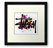 STUSSY BRUSH COLORS Framed Print