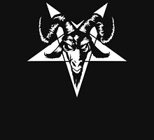 Satanic Goat Head with Pentagram 1.2 (white) Unisex T-Shirt