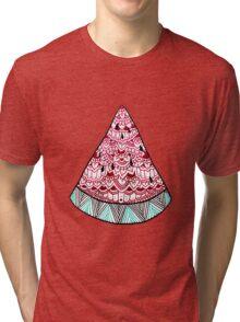 Watermelon: Mint/Red Tri-blend T-Shirt
