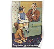British Poster World War I: Daddy what did you do Poster