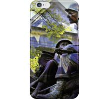 American flag and World War 2 monument iPhone Case/Skin