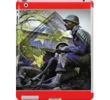 American flag and World War 2 monument iPad Case/Skin