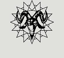 Satanic Goat Head with Chaos Star 1.2 (black) Unisex T-Shirt