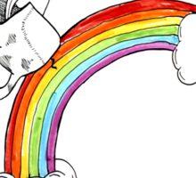 Cat Riding On A Rainbow Sticker
