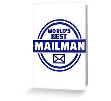 World's best mailman Greeting Card