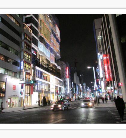 Ginza Streetscape, Chūō, Tokyo Sticker