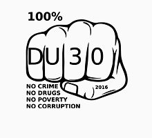 Duterte Rodrigo T-shirt,Du30 100% no Crime,no Drugs,no Poverty,no Corruption T-Shirt