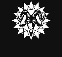 Satanic Goat Head with Chaos Star 1.2 (white) Unisex T-Shirt